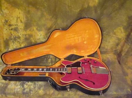 1966 GIBSON CHERRY RED ES-355 W/OHSC