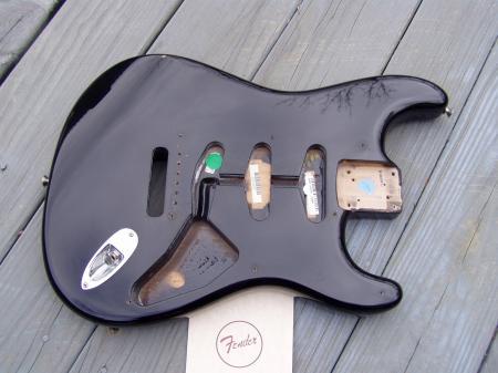 Fender guitar body dating